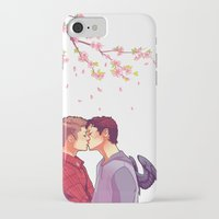 cherry blossoms iPhone & iPod Cases featuring Cherry Blossoms by brightfallenstars