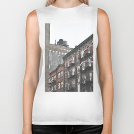 New York City corners, fire escapes, ladders fine art , nyc, America, photo Biker Tank