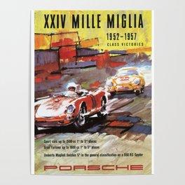 Mille Miglia, Race Poster, Vintage Poster, car poster Poster