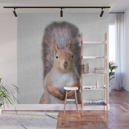 Squirrel - Colorful Wall Mural