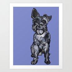 Rupert the Miniature Schnauzer Art Print