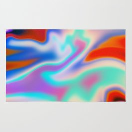 Holographic Abstract Neon Rug