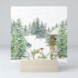 Snowy Winter Mini Art Print