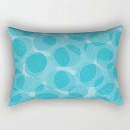Blue Rocks Rectangular Pillow