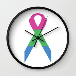 Polysexual Ribbon Wall Clock