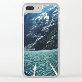 Boating Day Clear iPhone Case