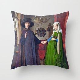 Arnolfini Portrait Throw Pillow