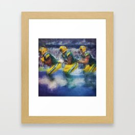 Green Bay Bobsled Team Framed Art Print