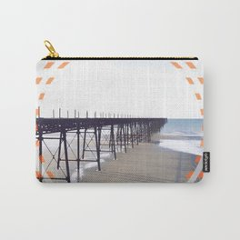 Victorian Pier - orange graphic Carry-All Pouch