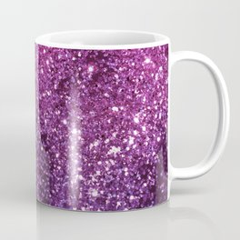 Purple Pink Ombre Lady Glitter #1 #shiny #decor #art #society6 Coffee Mug