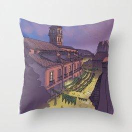 Medieval Fair (color) Throw Pillow