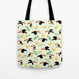 Toucan tropical pattern Tote Bag