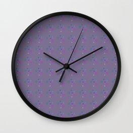 purple aqua pink bubbles Wall Clock