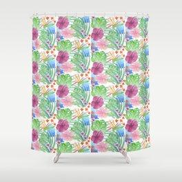 Malia's Tropical Print Shower Curtain