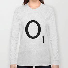 Letter O - Custom Scrabble Letter Tile Art - Scrabble O Initial Long Sleeve T-shirt