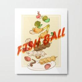 Vietnam Food Fish Ball Metal Print