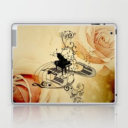 Music, piano with clef Laptop & iPad Skin