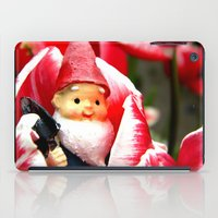gnome iPad Cases featuring Gnome Blossom by Thedustyphoenix