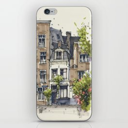 Residential house along Amsterdam canals iPhone Skin