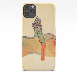 Egon Schiele - Orange knuckles and nipples (new color edit) iPhone Case