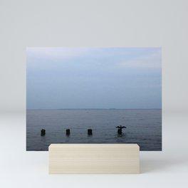 Cormorant in the Distance Mini Art Print