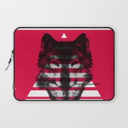 Red wolf white 4 Laptop Sleeve