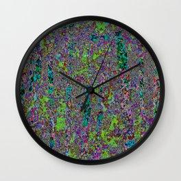 Purple Chaos 2 Wall Clock