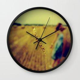 straw Wall Clock