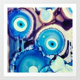 Evil Eye Tears Art Print