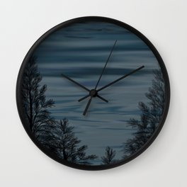 Lake at Night Wall Clock