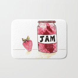 Strawberry VS Jam Bath Mat