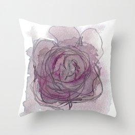Rose - Abstract Watercolour Throw Pillow