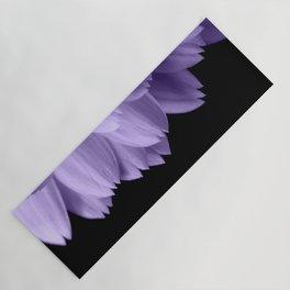 Ultra violet purple flower petals black Yoga Mat