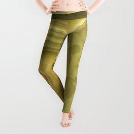 Green marble pattern Leggings