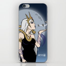 Kiss of Death - Evil Queen Blowing Kisses (Skulls with Wings) iPhone Skin