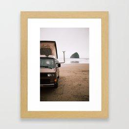 Cape Kiwanda Beach Westfalia Framed Art Print