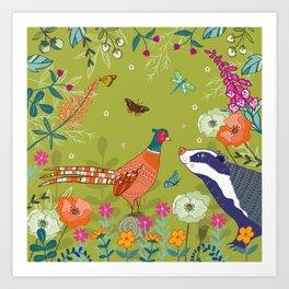Very Pheasant to Meet You Art Print