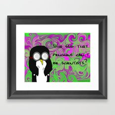 Scientist Penguin  Framed Art Print