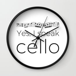 I speak cello Wall Clock