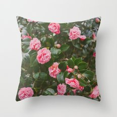 Pink Spring Throw Pillow