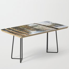 Forest Snow Scene Coffee Table