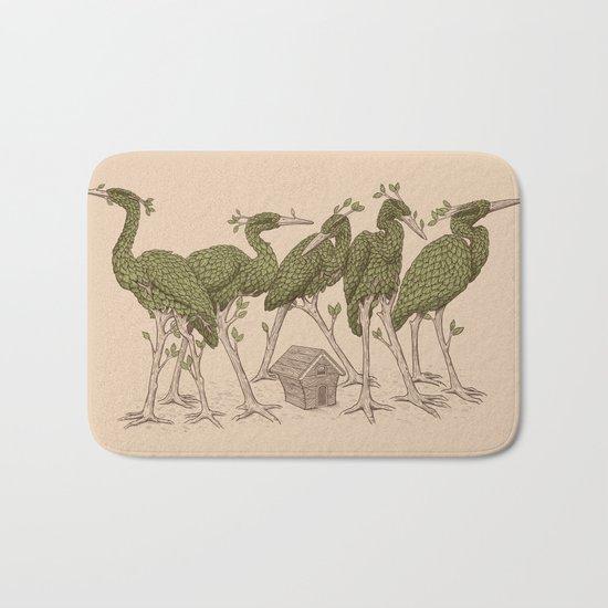 Bird Forest Bath Mat