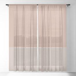 LIGHT SIENNA x MICA II Sheer Curtain