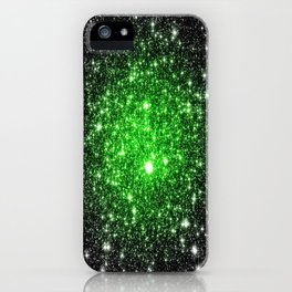 galAxy. Stars Lime Green iPhone Case