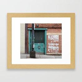 Jackson Street Composition Framed Art Print