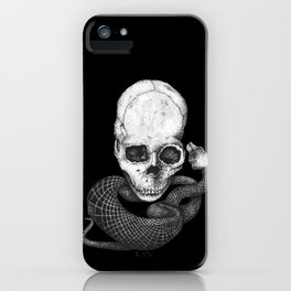 Skull and snake iPhone Case