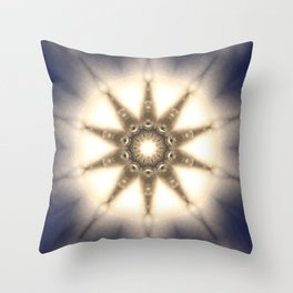 Diamond Light Mandala Throw Pillow