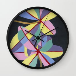 Motutara Karaka | abstract painting of nature Wall Clock