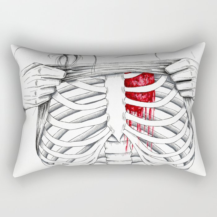 just because you don't see it doesn't mean I don't feel it. Rectangular Pillow