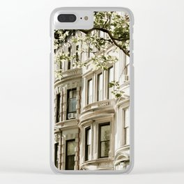 Between Columbus and Amsterdam Clear iPhone Case